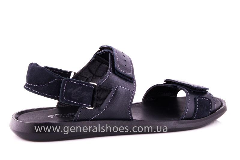 Мужские кожаные сандалии Ed-Ge S-5 blue фото 3