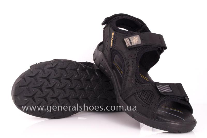 Мужские кожаные сандалии Shark L 63 black фото 9