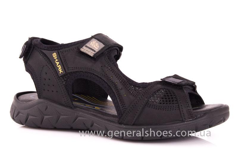 Мужские кожаные сандалии Shark L 63 black фото 1