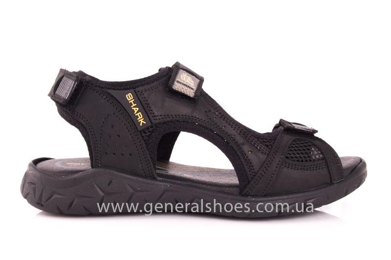 Мужские кожаные сандалии Shark L 63 black фото 2