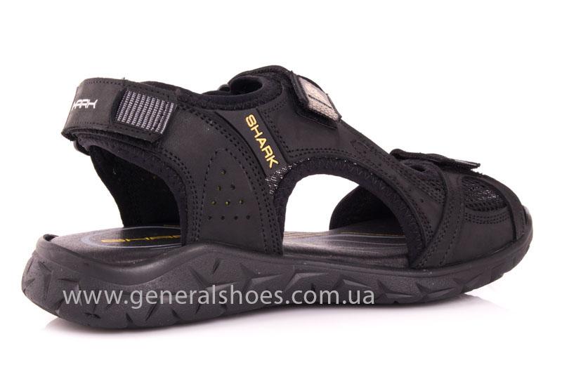 Мужские кожаные сандалии Shark L 63 black фото 3