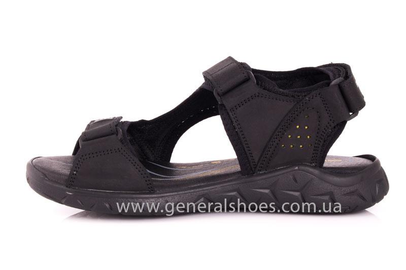 Мужские кожаные сандалии Shark L 63 black фото 5