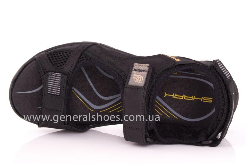 Мужские кожаные сандалии Shark L 63 black фото 6