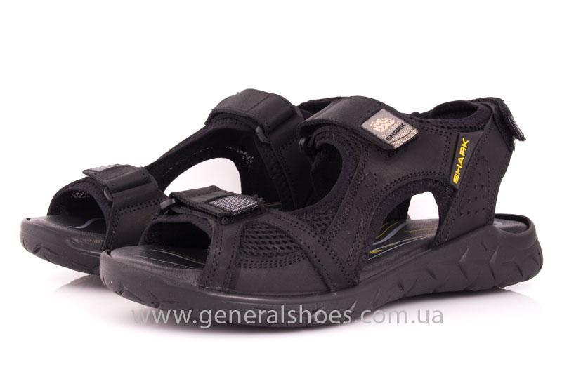 Мужские кожаные сандалии Shark L 63 black фото 7