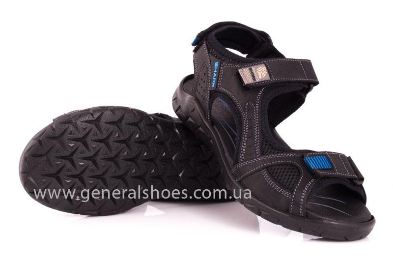 Мужские кожаные сандалии Shark L 63 black navy фото 11