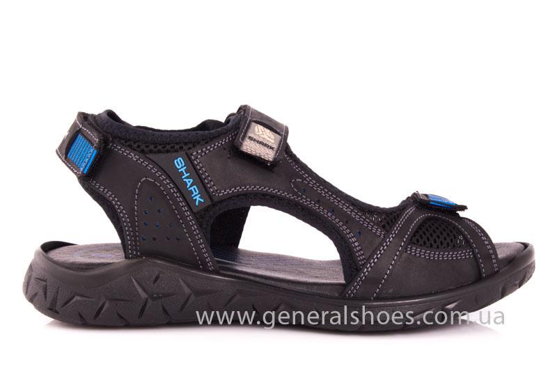 Мужские кожаные сандалии Shark L 63 black navy фото 2