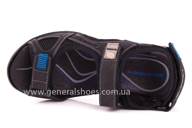 Мужские кожаные сандалии Shark L 63 black navy фото 6