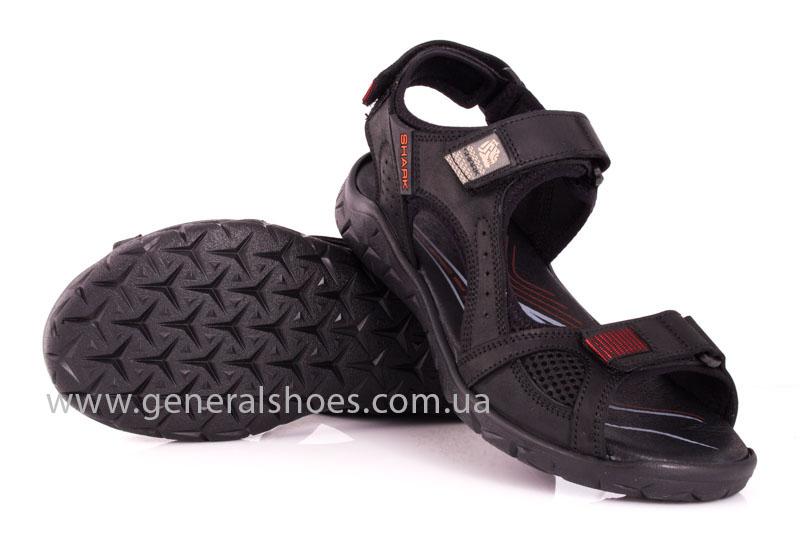 Мужские кожаные сандалии Shark L 63 black red фото 11