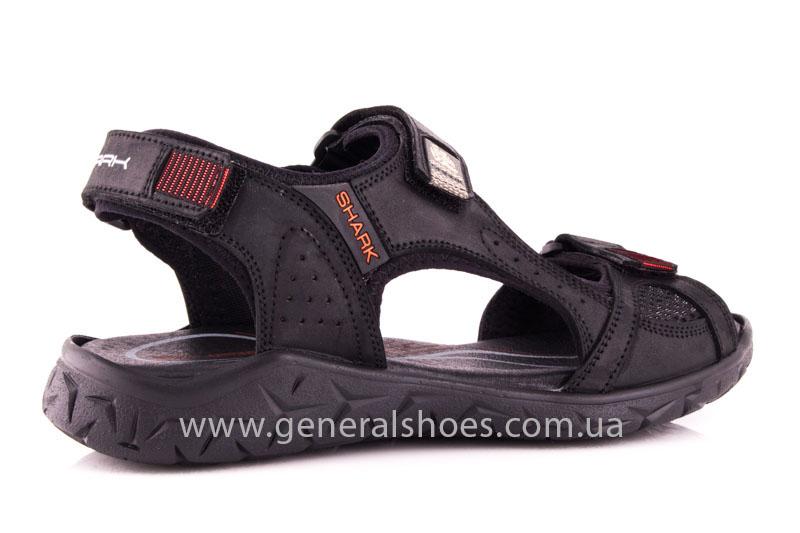 Мужские кожаные сандалии Shark L 63 black red фото 3