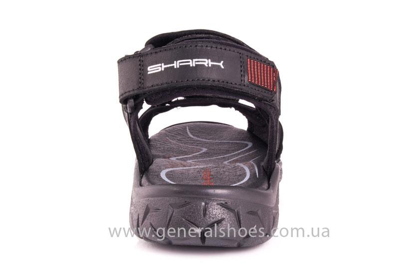 Мужские кожаные сандалии Shark L 63 black red фото 4