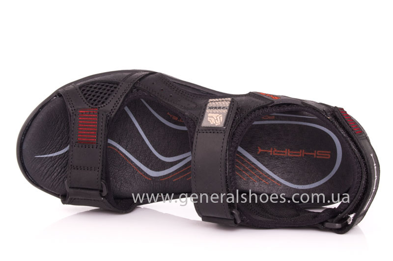 Мужские кожаные сандалии Shark L 63 black red фото 6