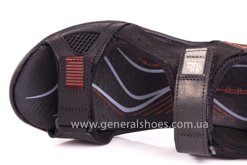 Мужские кожаные сандалии Shark L 63 black red фото 8