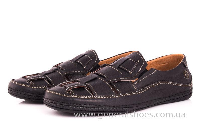Мужские кожаные сандалии Shark L46 blk фото 9