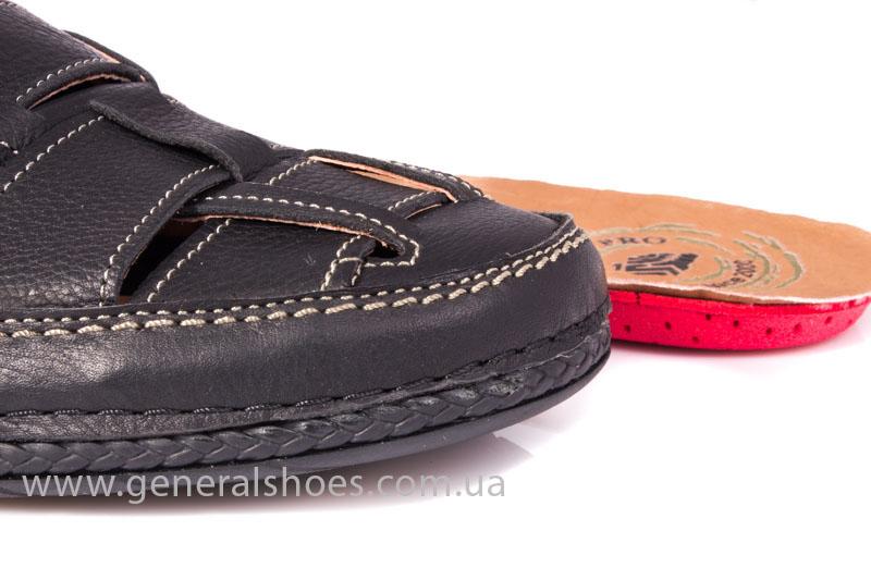 Мужские кожаные сандалии Shark L46 blk фото 8