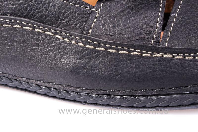 Мужские кожаные сандалии Shark L46 blk фото 7