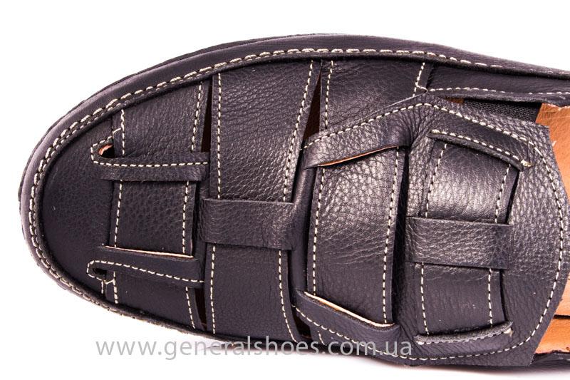 Мужские кожаные сандалии Shark L46 blk фото 6