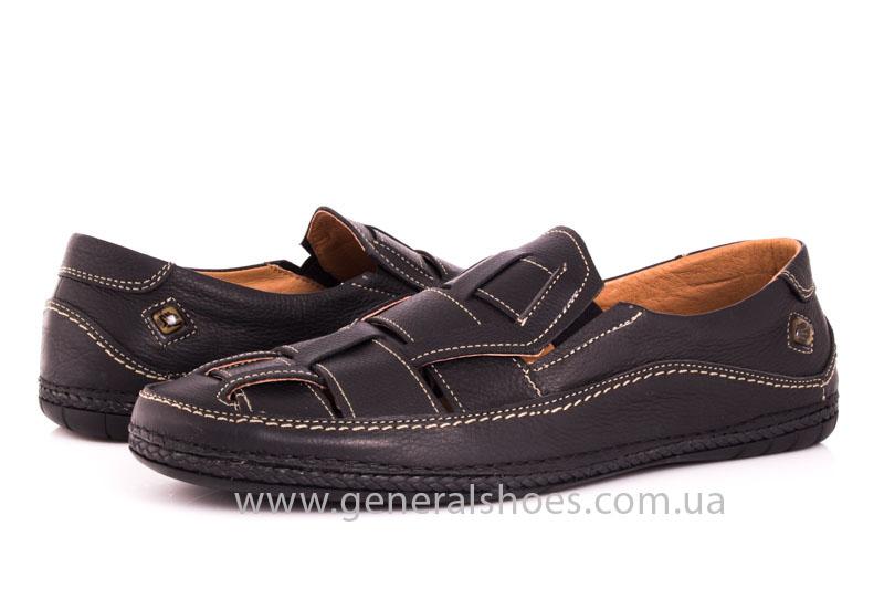 Мужские кожаные сандалии Shark L46 blk фото 10