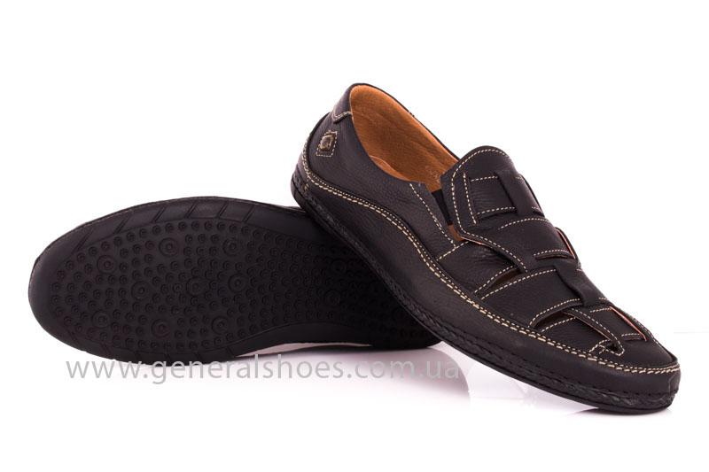 Мужские кожаные сандалии Shark L46 blk фото 11