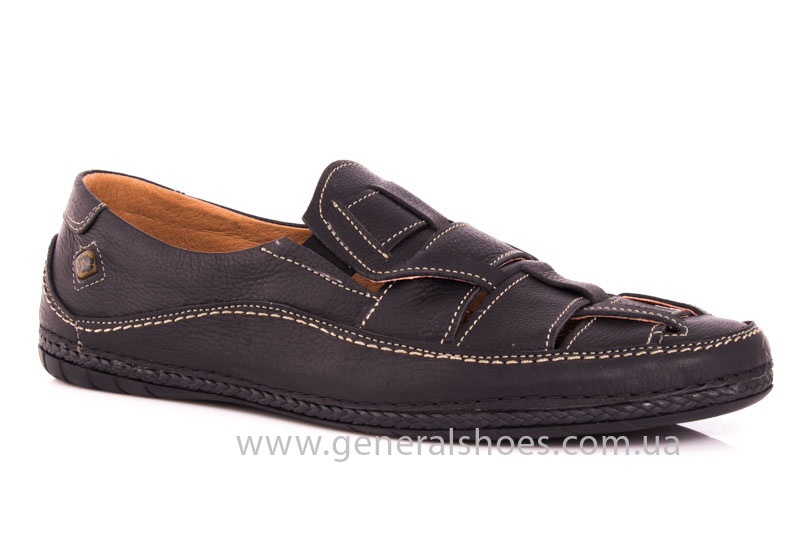 Мужские кожаные сандалии Shark L46 blk