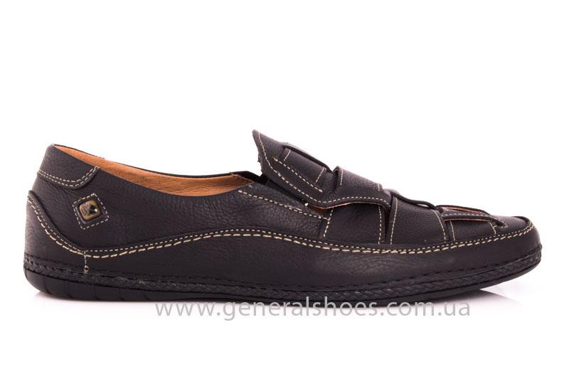 Мужские кожаные сандалии Shark L46 blk фото 2