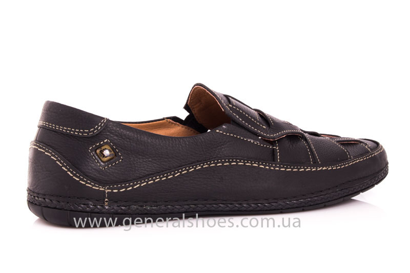 Мужские кожаные сандалии Shark L46 blk фото 3