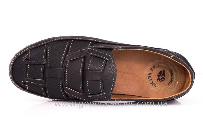 Мужские кожаные сандалии Shark L46 blk фото 5