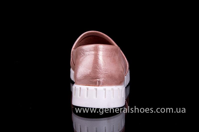Женские кожаные балетки 64 пудра фото 4