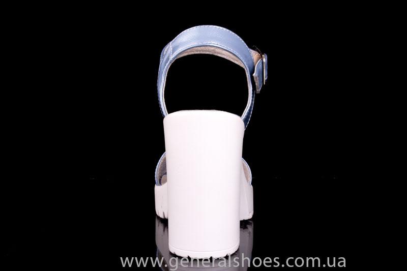 Женские кожаные босоножки КМ 1803 фото 4