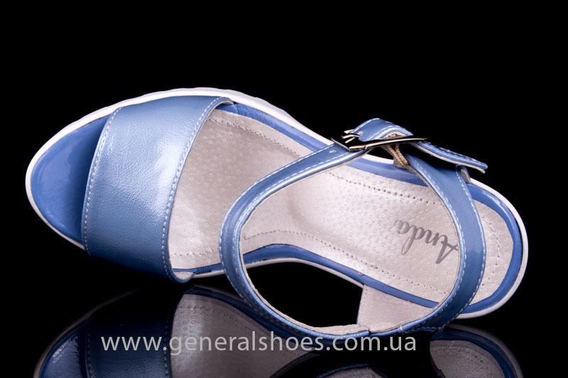 Женские кожаные босоножки КМ 1803 фото 6
