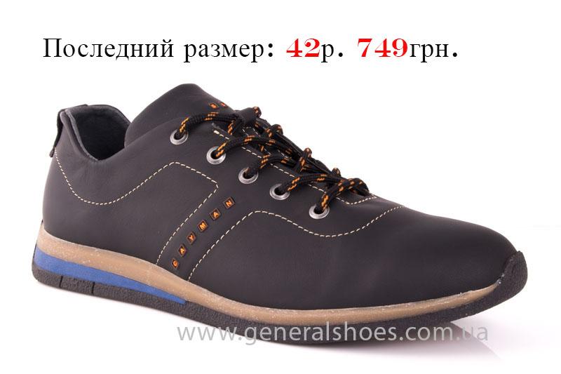 Мужские кожаные кроссовки GS L118 blk фото 1