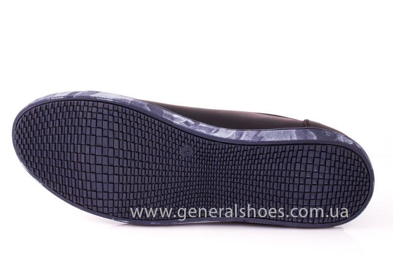 Мужские кожаные кроссовки GS L112 blk фото 8