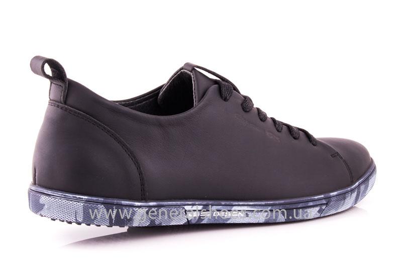 Мужские кожаные кроссовки GS L112 blk фото 3