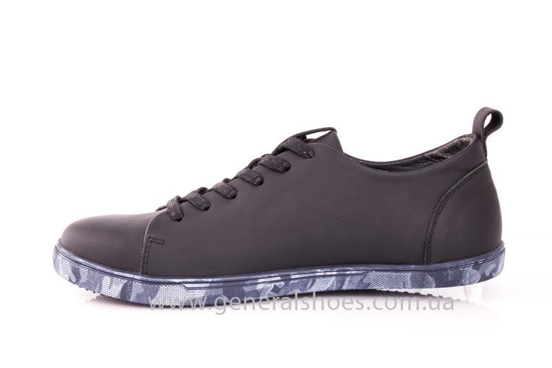 Мужские кожаные кроссовки GS L112 blk фото 5