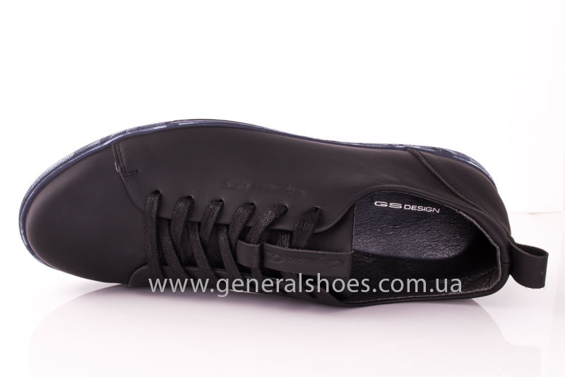 Мужские кожаные кроссовки GS L112 blk фото 6