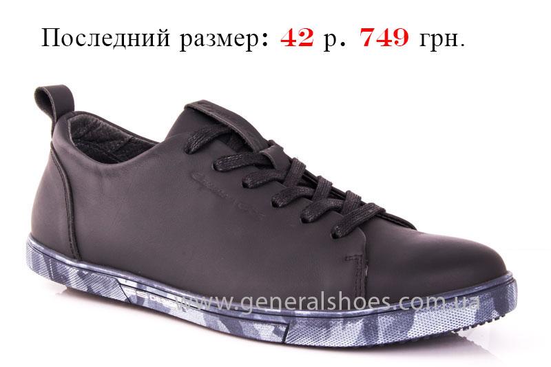 Мужские кожаные кроссовки GS 112 blk
