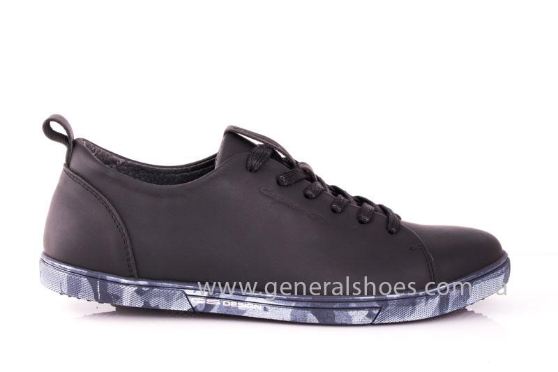 Мужские кожаные кроссовки GS L112 blk фото 2
