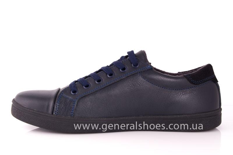 Мужские кожаные кроссовки GS 84 blue 4782 байка фото 4