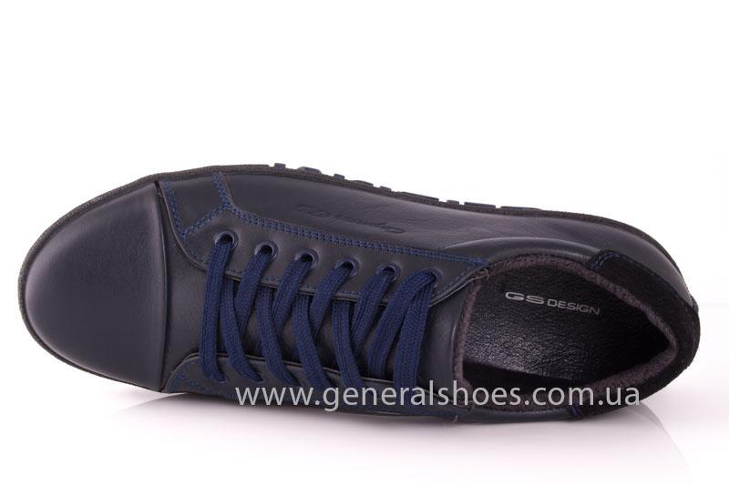 Мужские кожаные кроссовки GS 84 blue 4782 байка фото 5