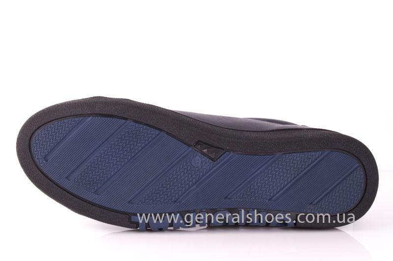 Мужские кожаные кроссовки GS 84 blue 4782 байка фото 6