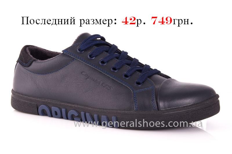 Мужские кожаные кроссовки GS 84 blue 4782 байка фото 1