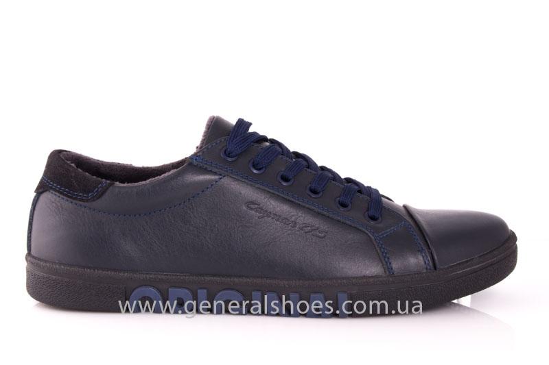 Мужские кожаные кроссовки GS 84 blue 4782 байка фото 2