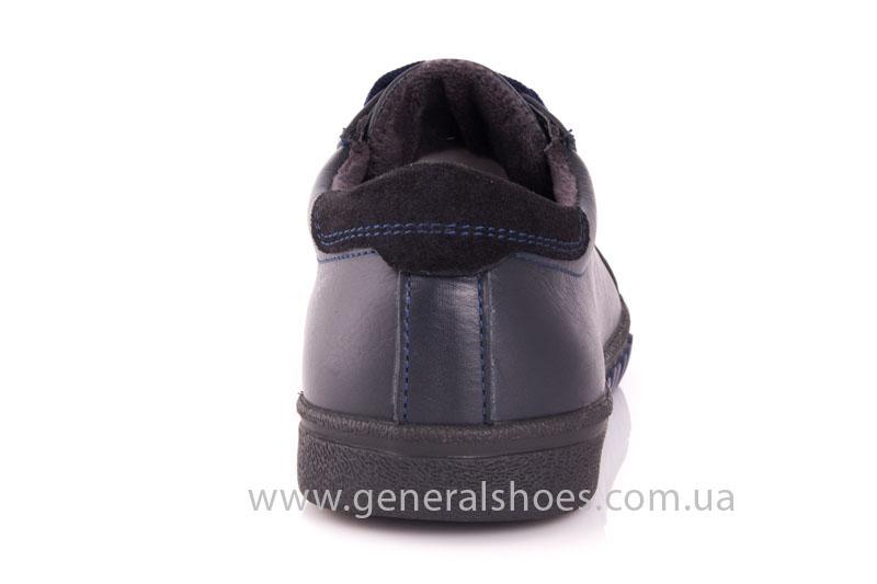 Мужские кожаные кроссовки GS 84 blue 4782 байка фото 3