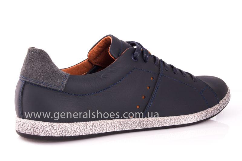 Мужские кожаные кроссовки GS L116 blue фото 2