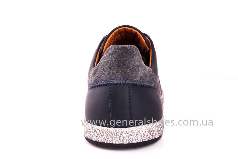 Мужские кожаные кроссовки GS L116 blue фото 3