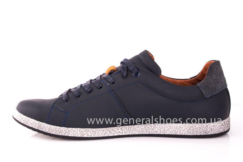 Мужские кожаные кроссовки GS L116 blue фото 4