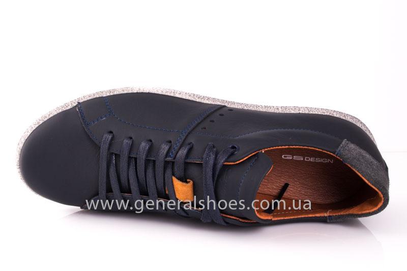 Мужские кожаные кроссовки GS L116 blue фото 5