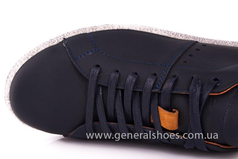 Мужские кожаные кроссовки GS L116 blue фото 6