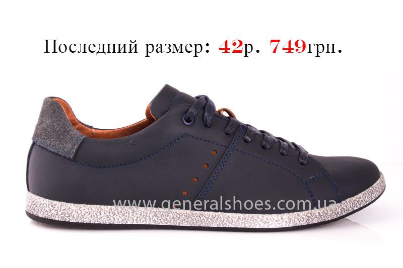 Мужские кожаные кроссовки GS L116 blue фото 1