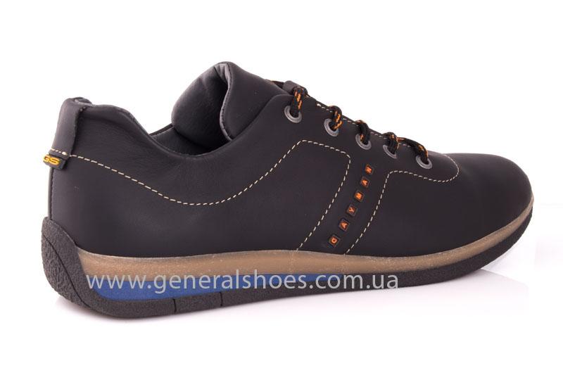 Мужские кожаные кроссовки GS L118 blk фото 3