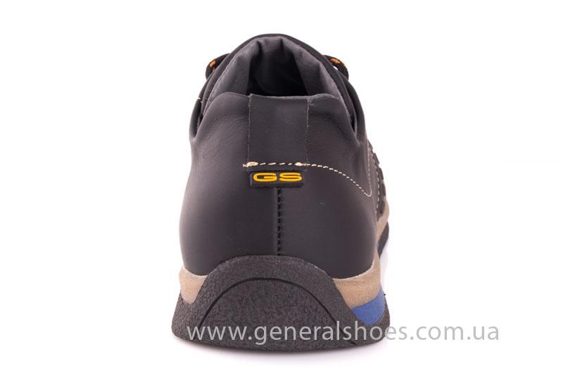 Мужские кожаные кроссовки GS L118 blk фото 4